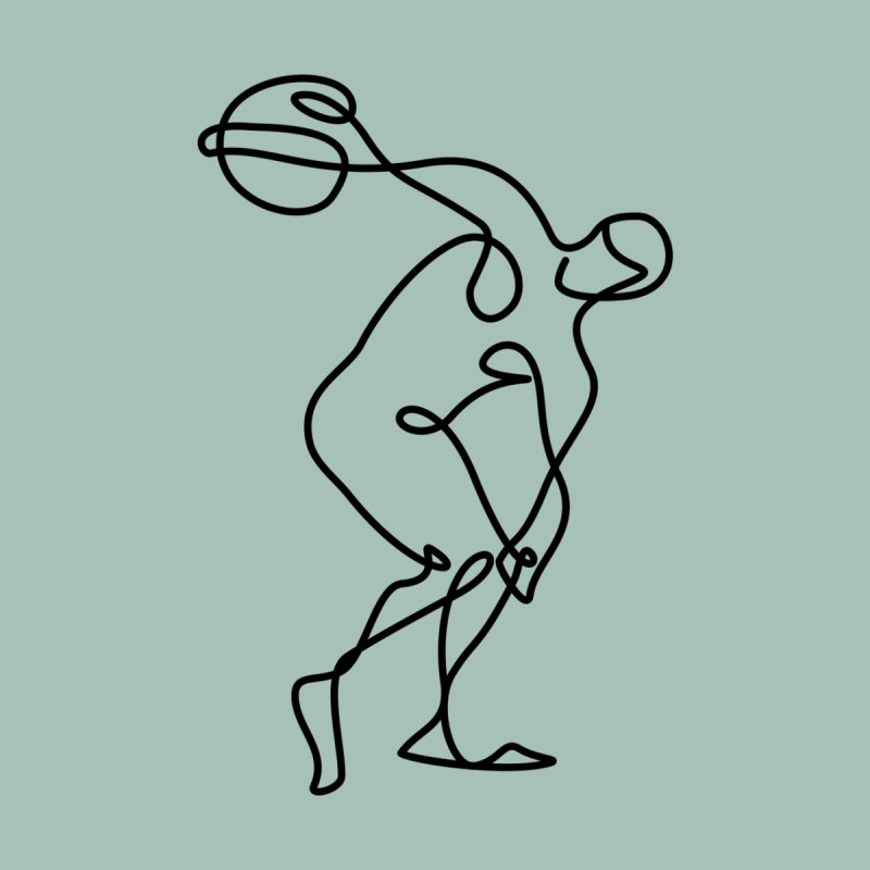 Greek Discus Thrower (Opal) Home Fine Art Print by Ancient History Encyclopedia