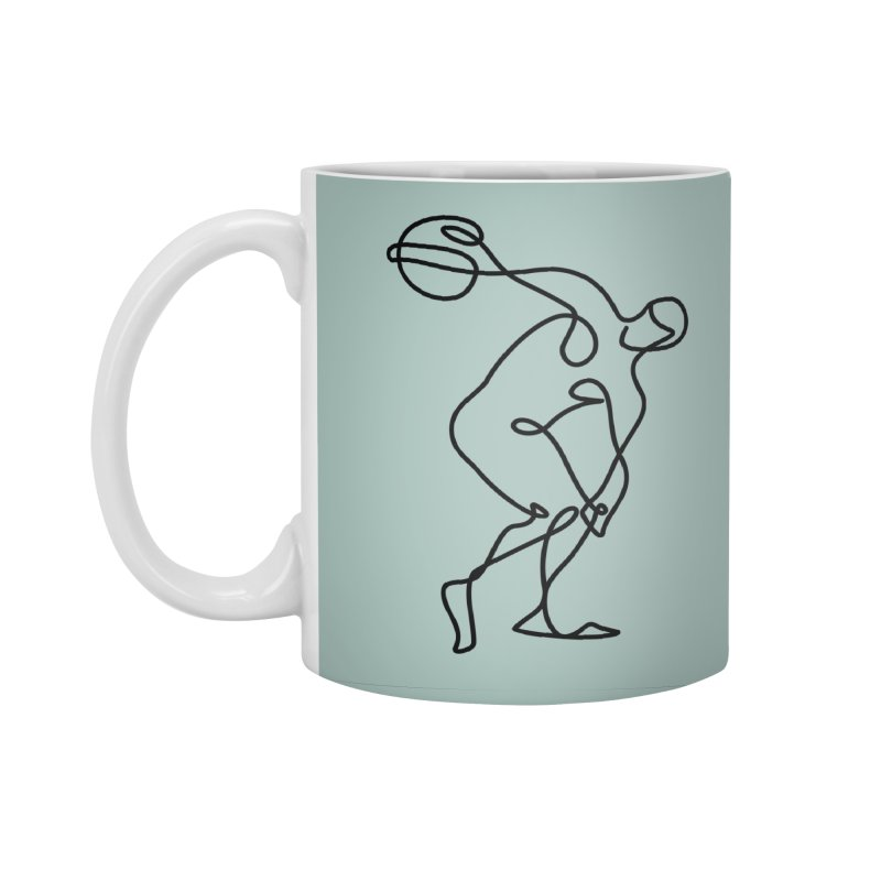 Greek Discus Thrower (Opal) Accessories Standard Mug by Ancient History Encyclopedia