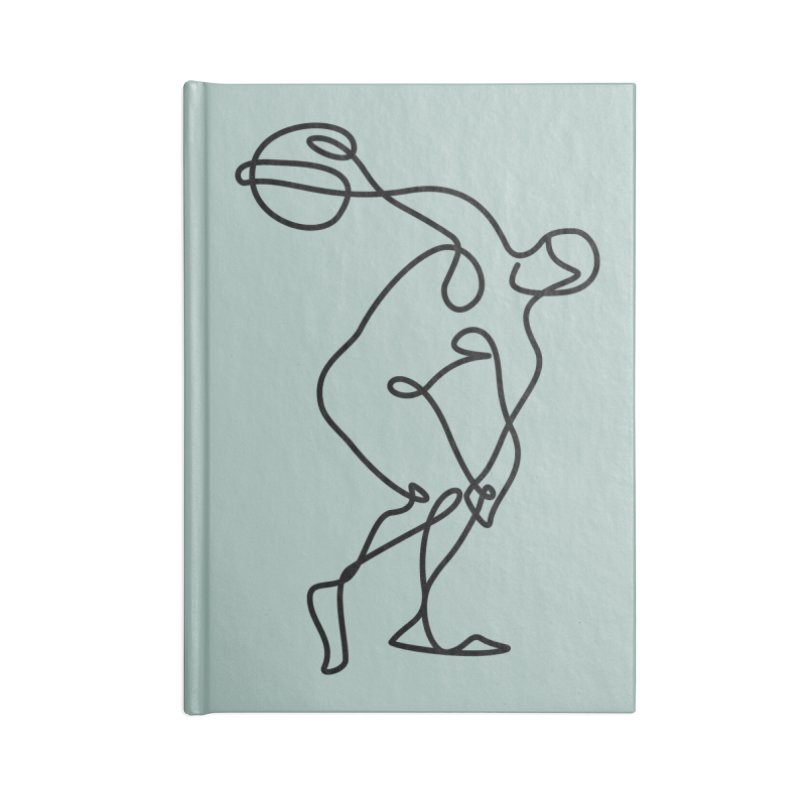 Greek Discus Thrower (Opal) Accessories Lined Journal Notebook by Ancient History Encyclopedia