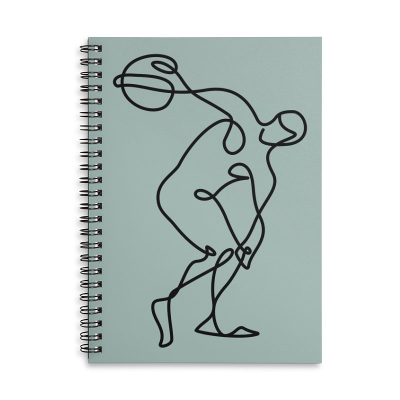 Greek Discus Thrower (Opal) Accessories Lined Spiral Notebook by Ancient History Encyclopedia