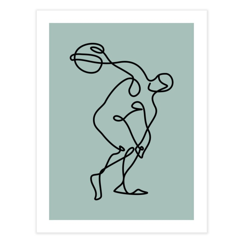 Greek Discus Thrower (Opal) in Fine Art Print by Ancient History Encyclopedia
