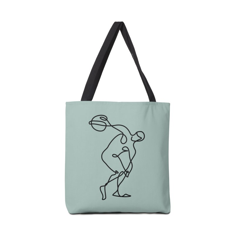Greek Discus Thrower (Opal) Accessories Tote Bag Bag by Ancient History Encyclopedia