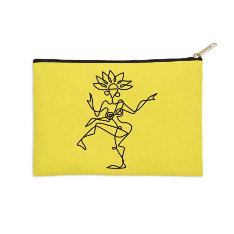 Shiva Nataraja (bright yellow) Accessories Zip Pouch by Ancient History Encyclopedia