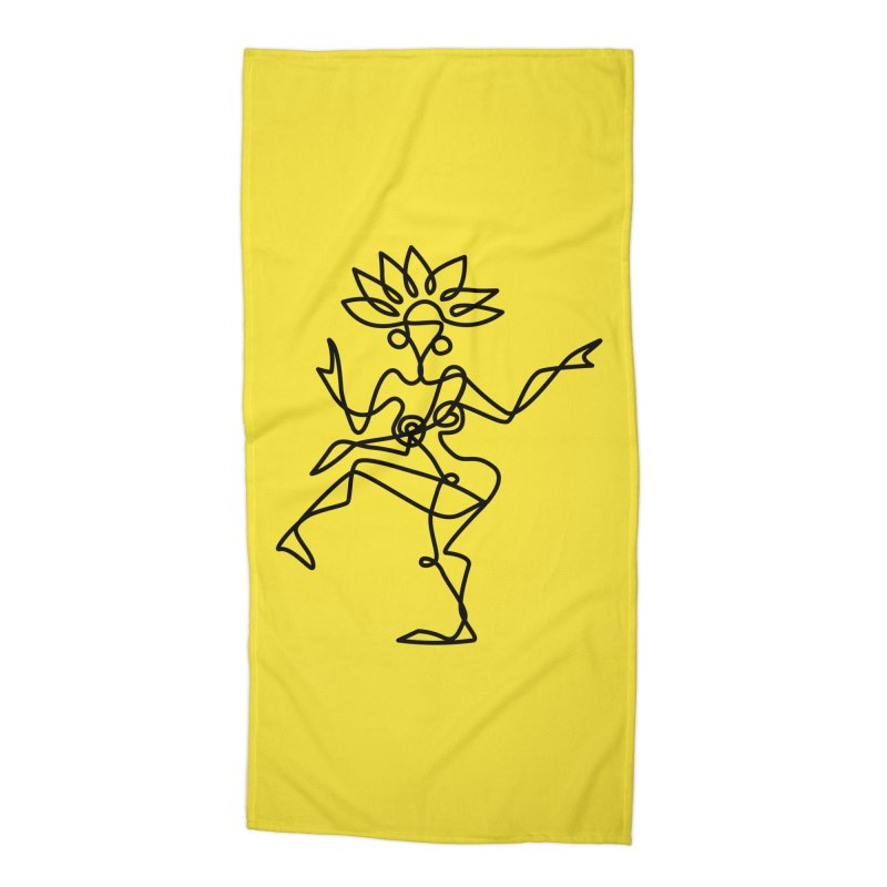 Shiva Nataraja (bright yellow) Accessories Beach Towel by Ancient History Encyclopedia