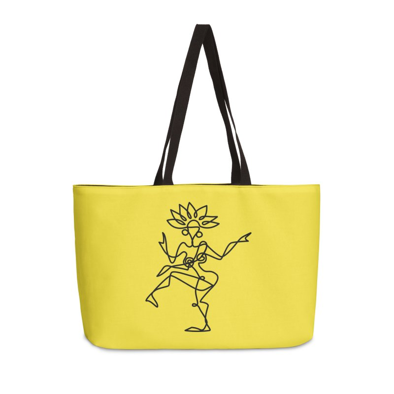 Shiva Nataraja (bright yellow) Accessories Weekender Bag Bag by Ancient History Encyclopedia