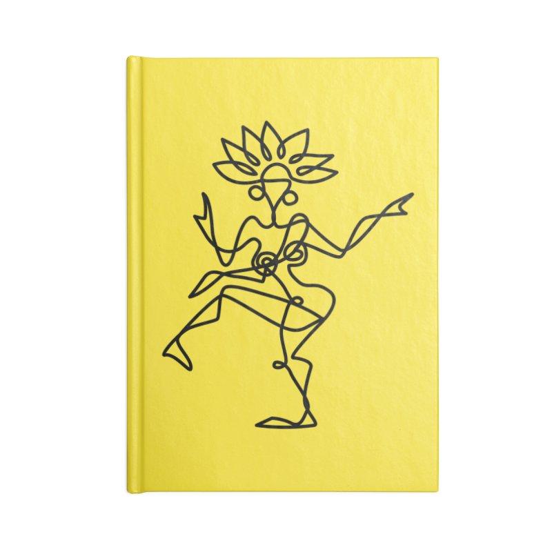 Shiva Nataraja (bright yellow) Accessories Notebook by Ancient History Encyclopedia