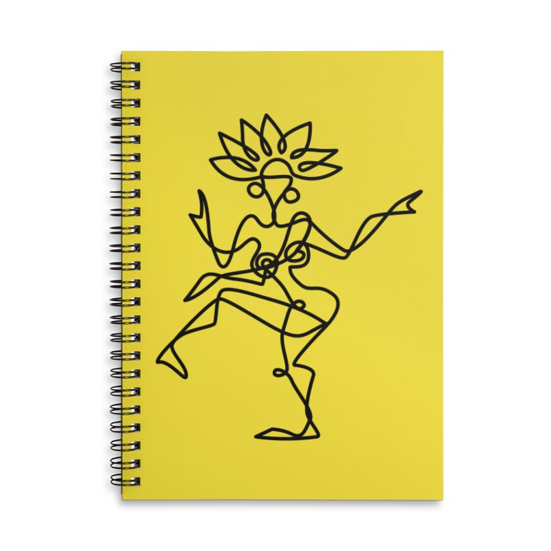 Shiva Nataraja (bright yellow) Accessories Lined Spiral Notebook by Ancient History Encyclopedia