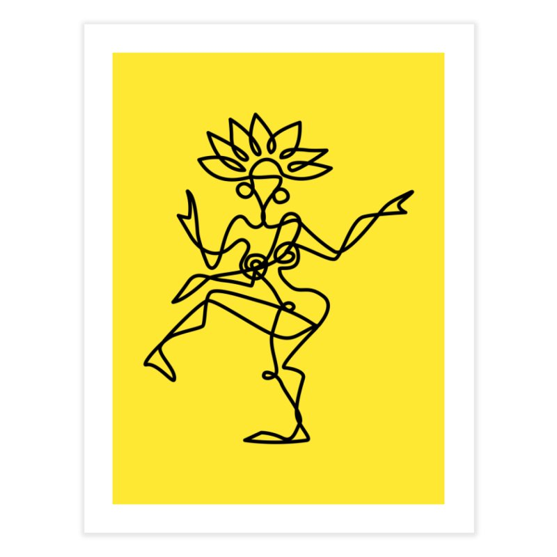 Shiva Nataraja (bright yellow) Home Fine Art Print by Ancient History Encyclopedia