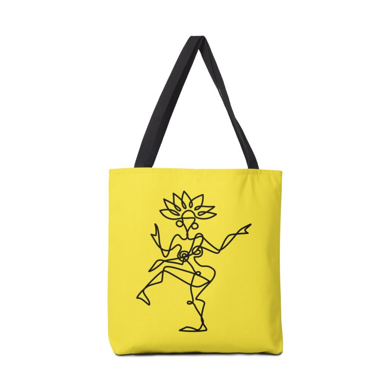 Shiva Nataraja (bright yellow) Accessories Tote Bag Bag by Ancient History Encyclopedia