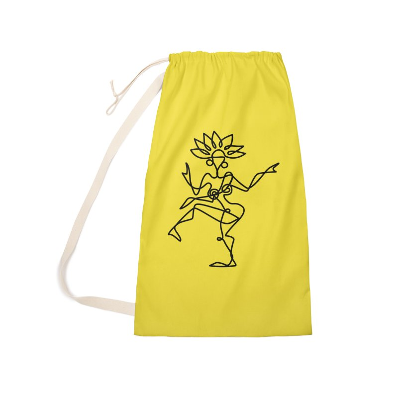 Shiva Nataraja (bright yellow) Accessories Laundry Bag Bag by Ancient History Encyclopedia