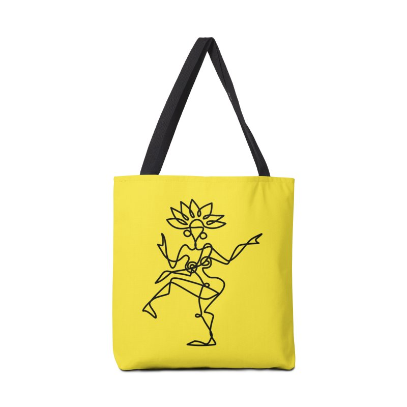 Shiva Nataraja (bright yellow) Accessories Bag by Ancient History Encyclopedia