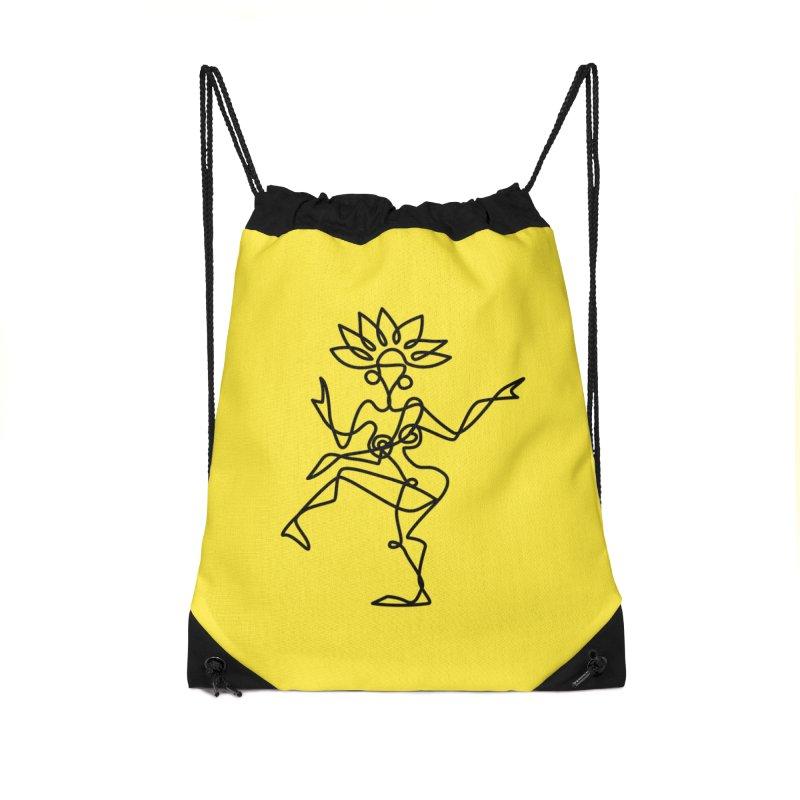 Shiva Nataraja (bright yellow) Accessories Drawstring Bag Bag by Ancient History Encyclopedia