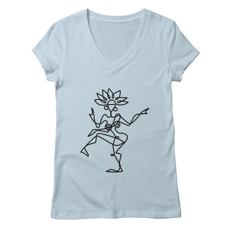 Shiva Nataraja Clothing Women's Regular V-Neck by Ancient History Encyclopedia