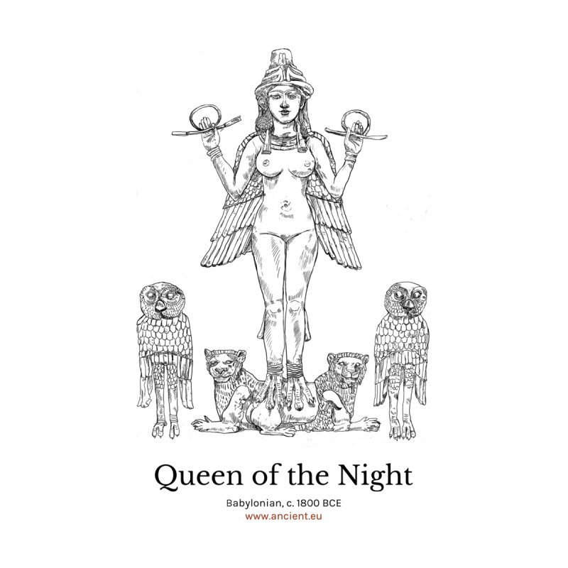 Queen of the Night Clothing Women's V-Neck by Ancient History Encyclopedia