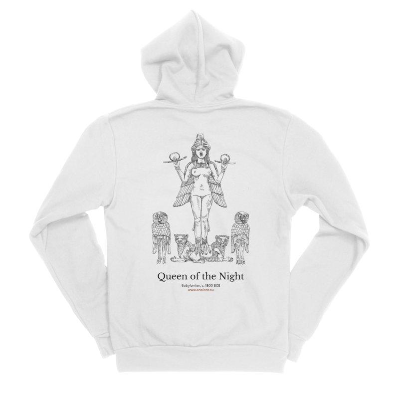 Queen of the Night Clothing Men's Sponge Fleece Zip-Up Hoody by Ancient History Encyclopedia