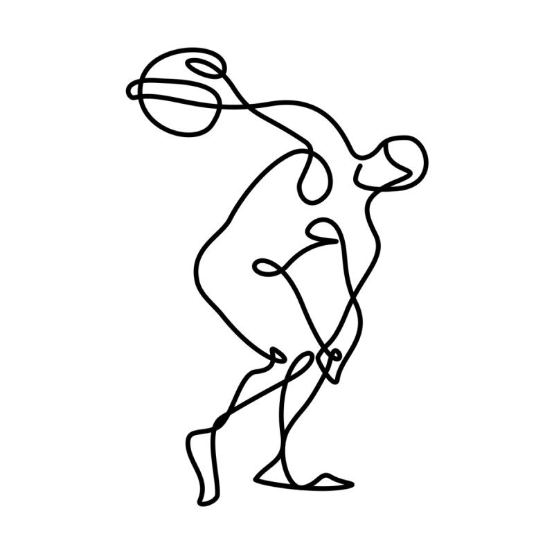 Greek Discus Thrower Clothing by Ancient History Encyclopedia