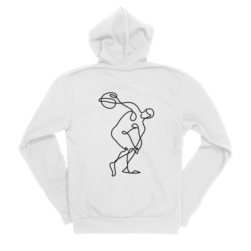 Greek Discus Thrower Clothing Men's Sponge Fleece Zip-Up Hoody by Ancient History Encyclopedia