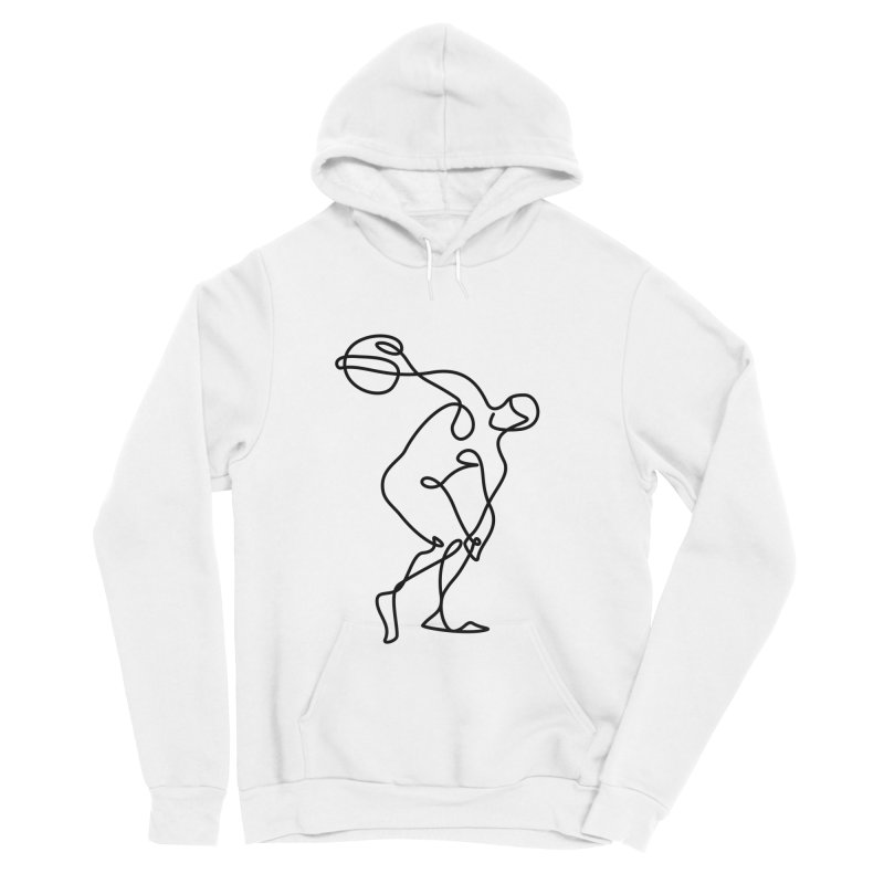 Greek Discus Thrower Clothing Men's Pullover Hoody by Ancient History Encyclopedia