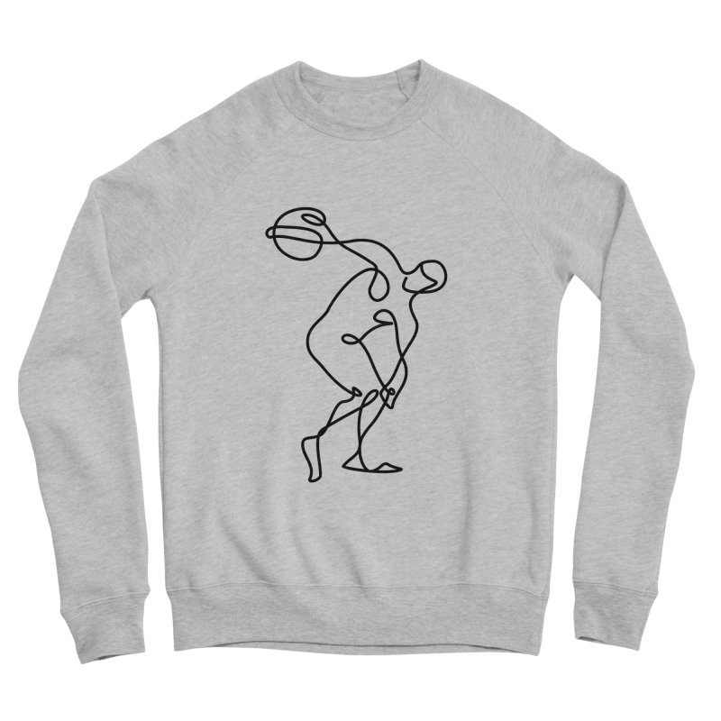 Greek Discus Thrower Clothing Women's Sponge Fleece Sweatshirt by Ancient History Encyclopedia