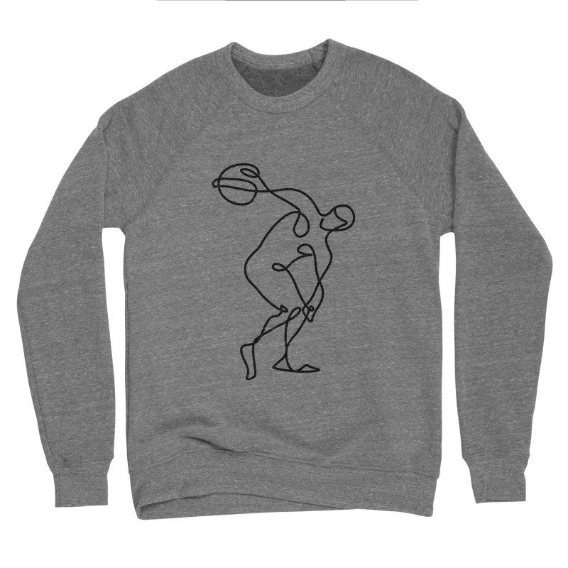 Greek Discus Thrower Clothing Men's Sponge Fleece Sweatshirt by Ancient History Encyclopedia