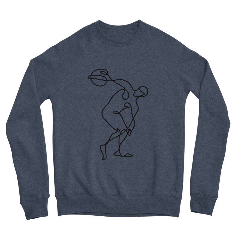 Greek Discus Thrower Clothing Men's Sponge Fleece Sweatshirt by Ancient History Encyclopedia