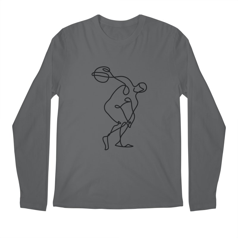 Greek Discus Thrower Clothing Men's Longsleeve T-Shirt by Ancient History Encyclopedia