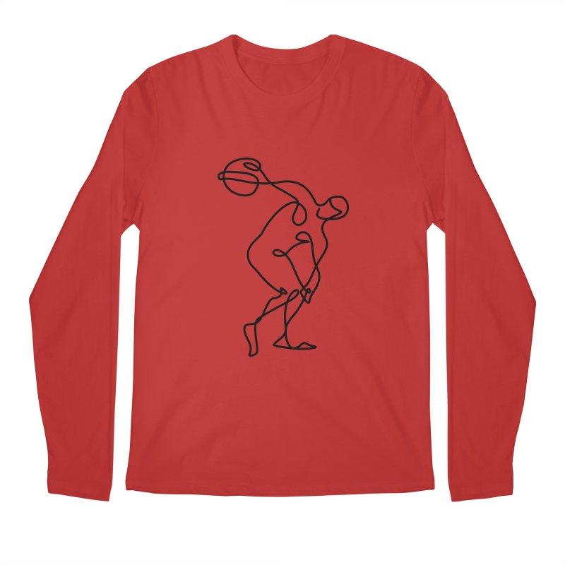 Greek Discus Thrower Clothing Men's Regular Longsleeve T-Shirt by Ancient History Encyclopedia