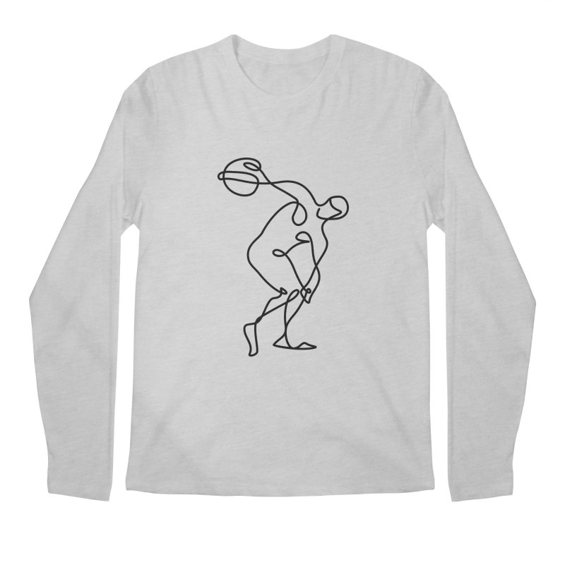 Greek Discus Thrower Clothing Men's Regular Longsleeve T-Shirt by Ancient History Encyclopedia