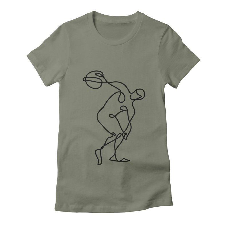 Greek Discus Thrower Clothing Women's Fitted T-Shirt by Ancient History Encyclopedia