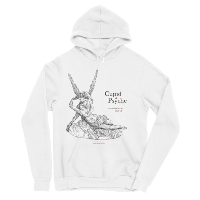 Cupid and Psyche Clothing Men's Sponge Fleece Pullover Hoody by Ancient History Encyclopedia