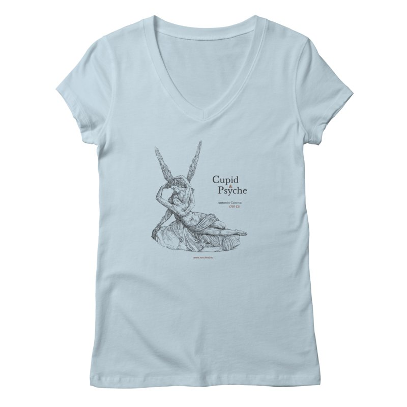 Cupid and Psyche Clothing Women's V-Neck by Ancient History Encyclopedia