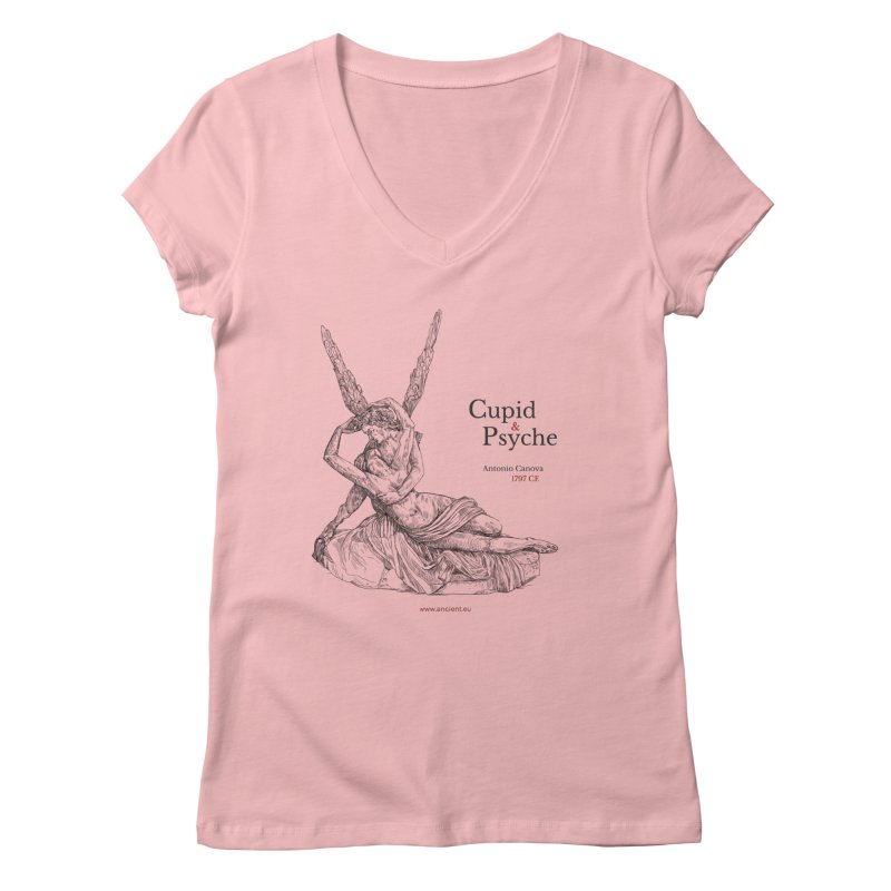 Cupid and Psyche Clothing Women's Regular V-Neck by Ancient History Encyclopedia