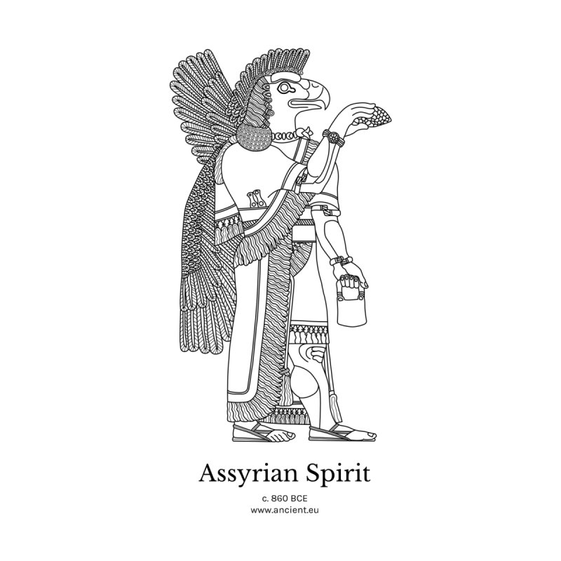 Assyrian Spirit Clothing (black) Men's T-Shirt by Ancient History Encyclopedia