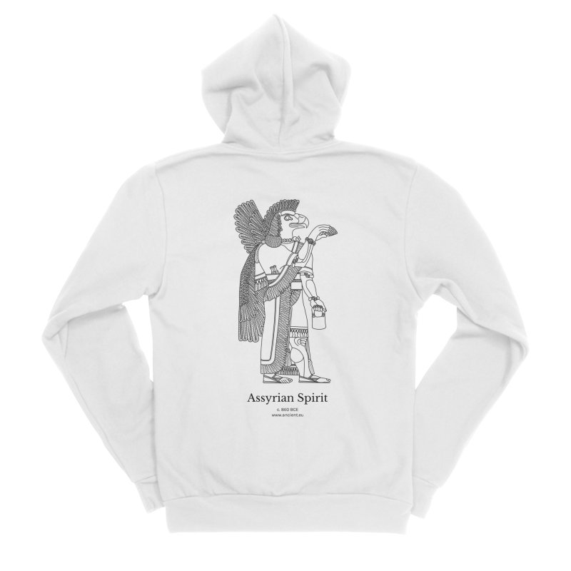 Assyrian Spirit Clothing (black) Men's Sponge Fleece Zip-Up Hoody by Ancient History Encyclopedia