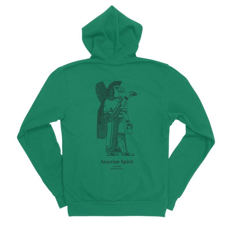Assyrian Spirit Clothing (black) Men's Sponge Fleece Zip-Up Hoody by Ancient History Encyclopedia