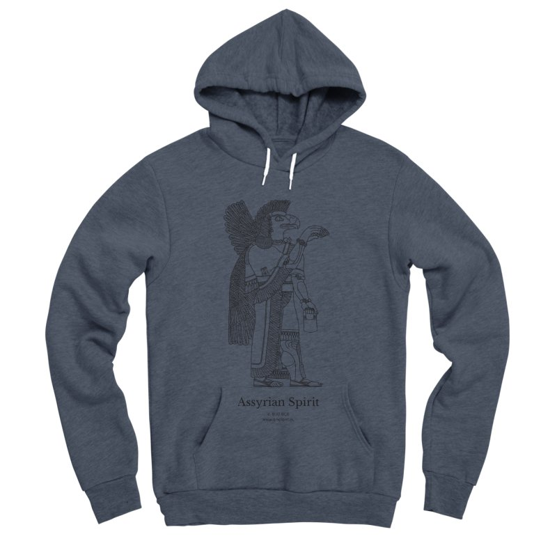 Assyrian Spirit Clothing (black) Women's Sponge Fleece Pullover Hoody by Ancient History Encyclopedia
