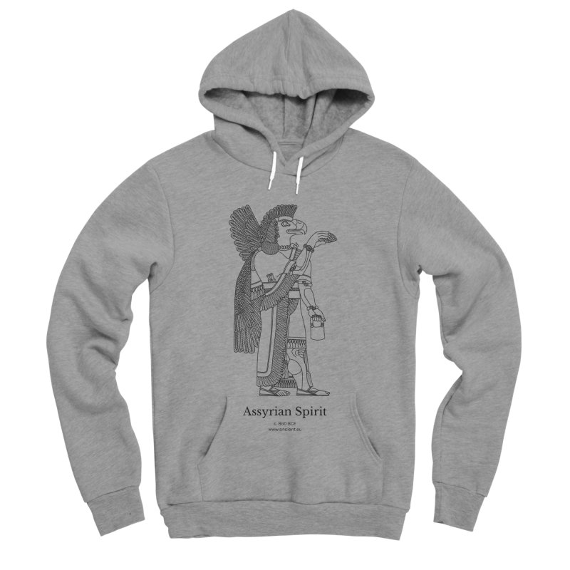 Assyrian Spirit Clothing (black) Men's Sponge Fleece Pullover Hoody by Ancient History Encyclopedia
