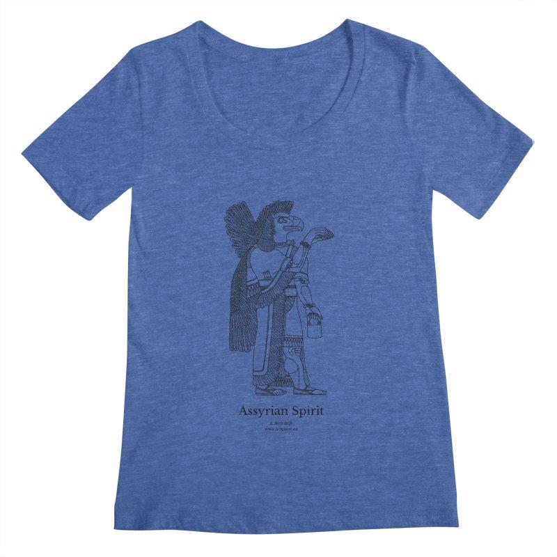 Assyrian Spirit Clothing (black) Women's Regular Scoop Neck by Ancient History Encyclopedia