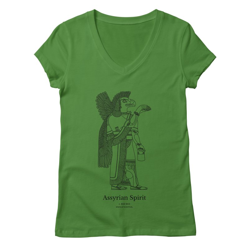 Assyrian Spirit Clothing (black) Women's Regular V-Neck by Ancient History Encyclopedia