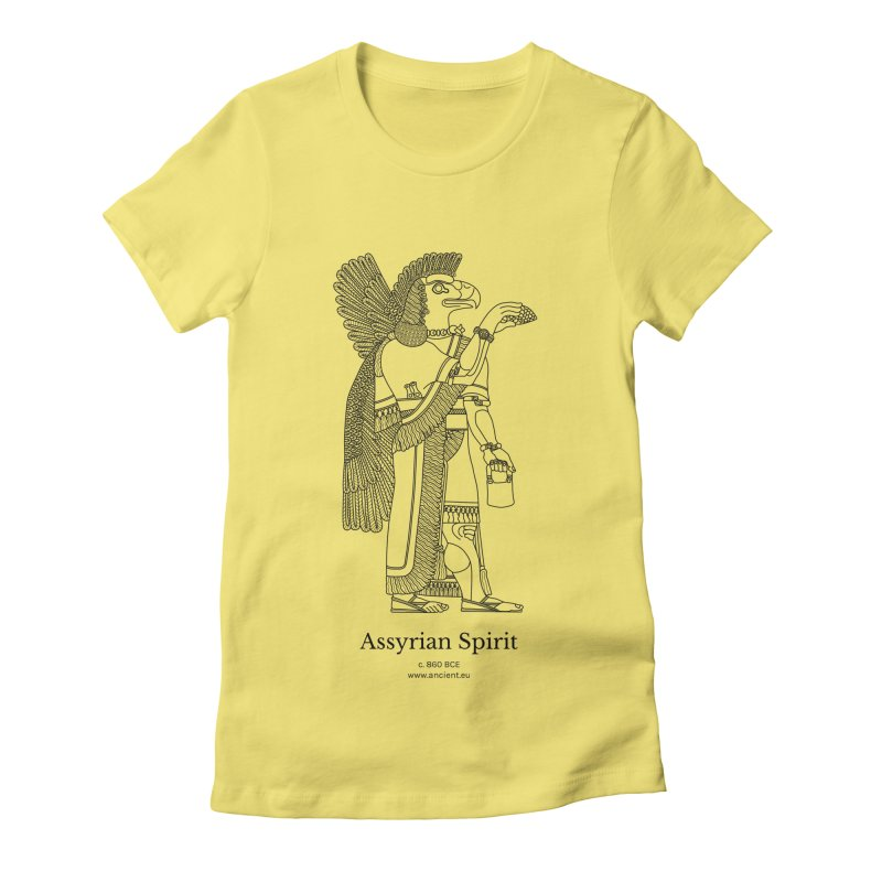 Assyrian Spirit Clothing (black) Women's Fitted T-Shirt by Ancient History Encyclopedia