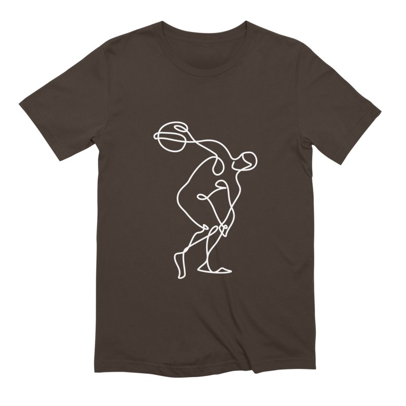 Greek Discus Thrower Clothing (white) Men's Extra Soft T-Shirt by Ancient History Encyclopedia