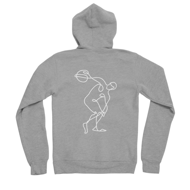 Greek Discus Thrower Clothing (white) Men's Zip-Up Hoody by Ancient History Encyclopedia