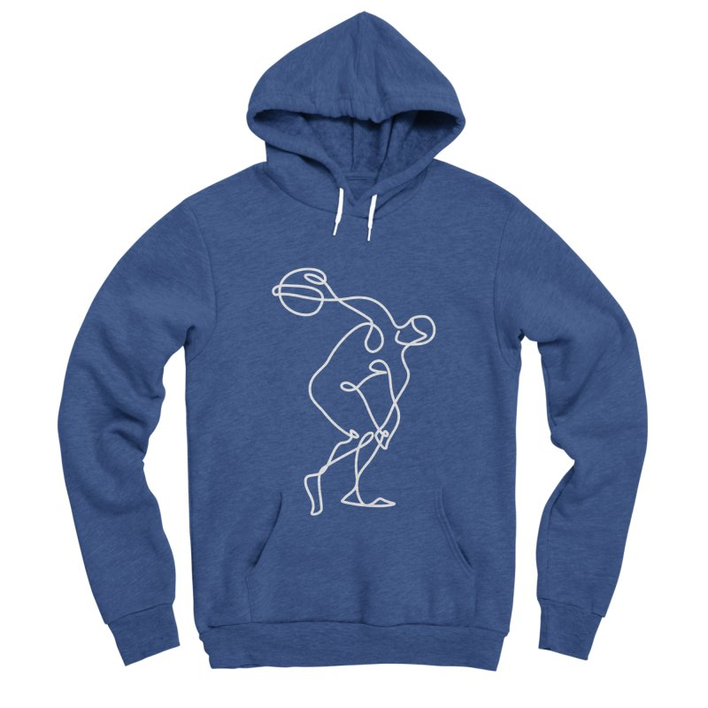 Greek Discus Thrower Clothing (white) Women's Sponge Fleece Pullover Hoody by Ancient History Encyclopedia