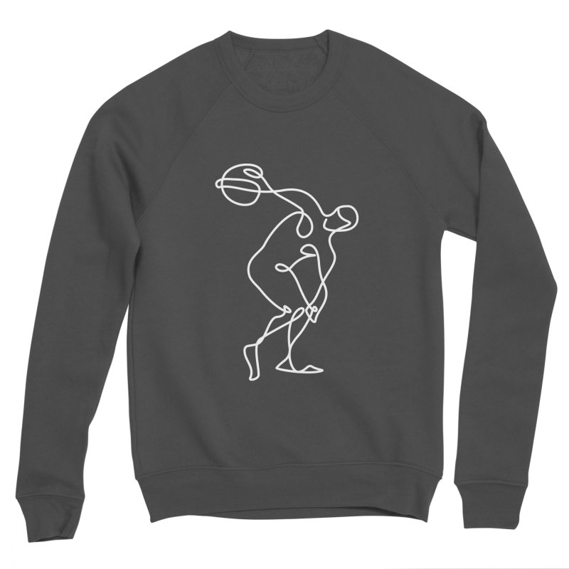 Greek Discus Thrower Clothing (white) Men's Sponge Fleece Sweatshirt by Ancient History Encyclopedia