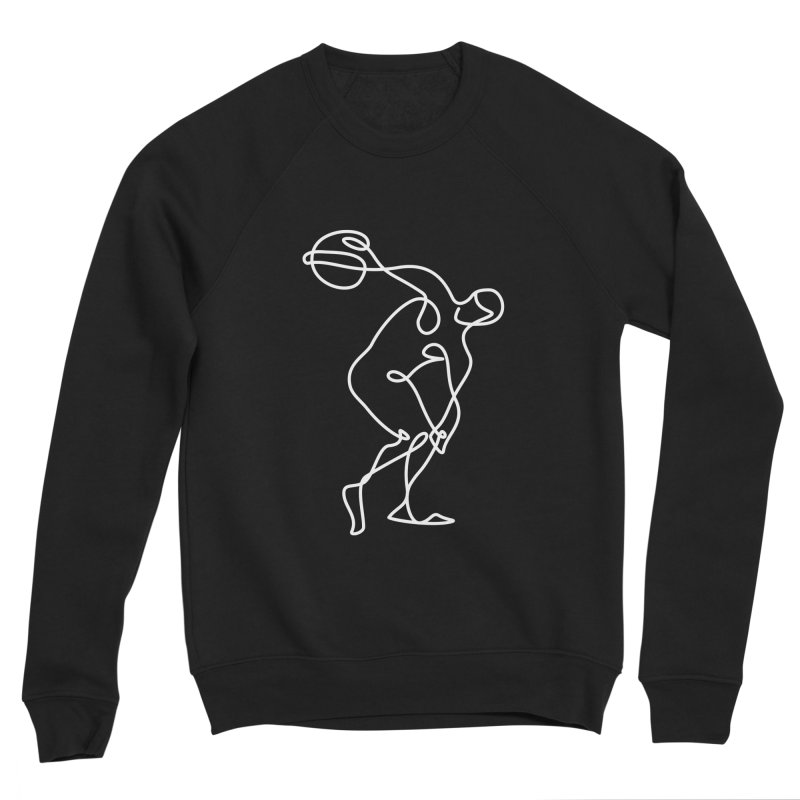 Greek Discus Thrower Clothing (white) Men's Sponge Fleece Sweatshirt by Ancient History Encyclopedia