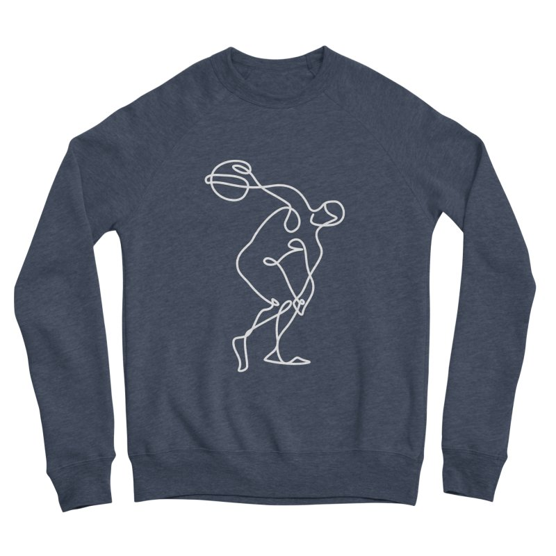 Greek Discus Thrower Clothing (white) Women's Sponge Fleece Sweatshirt by Ancient History Encyclopedia