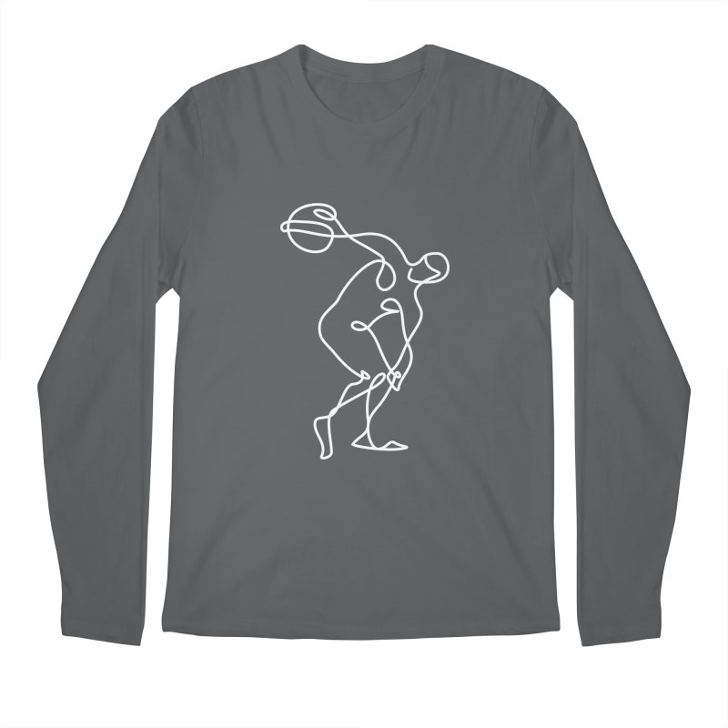 Greek Discus Thrower Clothing (white) Men's Regular Longsleeve T-Shirt by Ancient History Encyclopedia