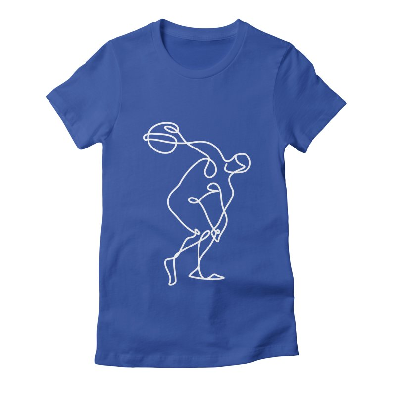 Greek Discus Thrower Clothing (white) Women's Fitted T-Shirt by Ancient History Encyclopedia