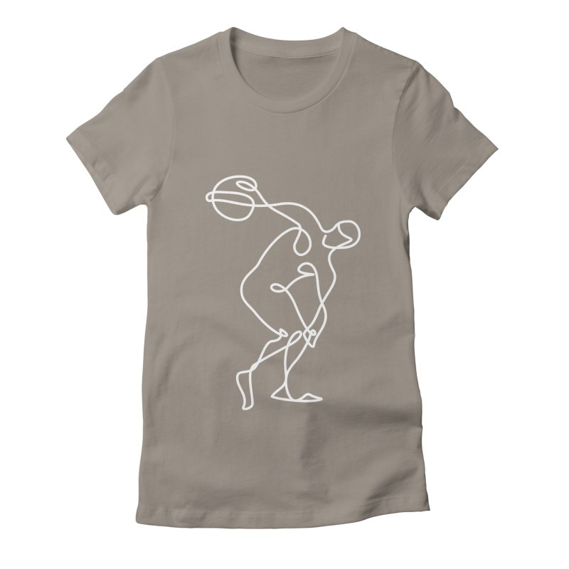 Greek Discus Thrower Clothing (white) Women's T-Shirt by Ancient History Encyclopedia