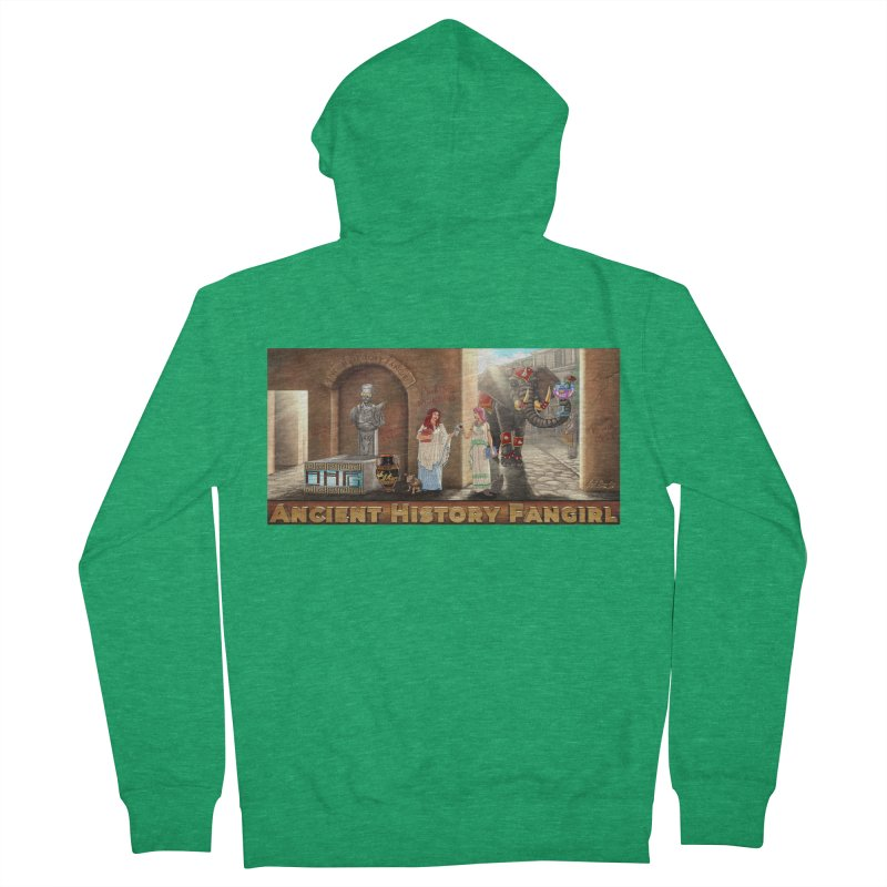 Fangirl Life Men's Zip-Up Hoody by ancienthistoryfangirl's Artist Shop